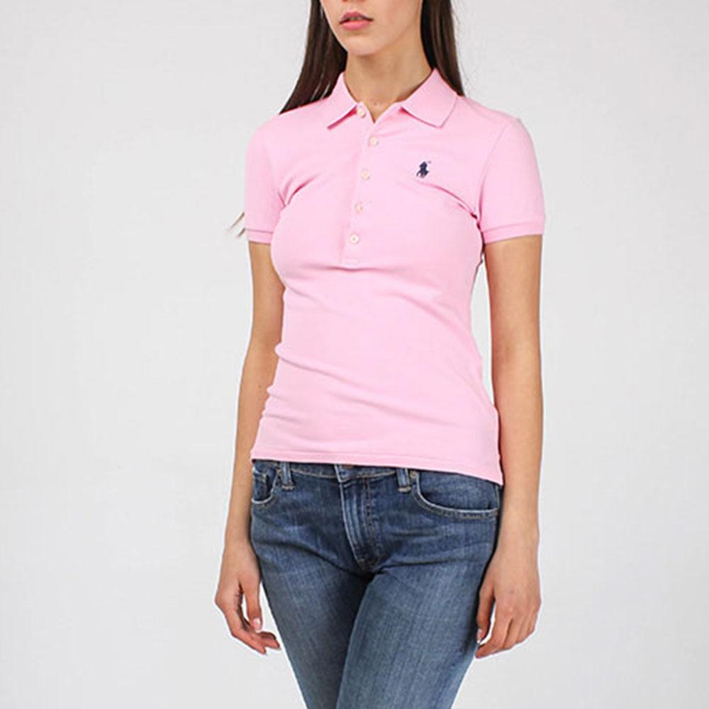 Поло розового цвета Polo Ralph Lauren с черным логотипом