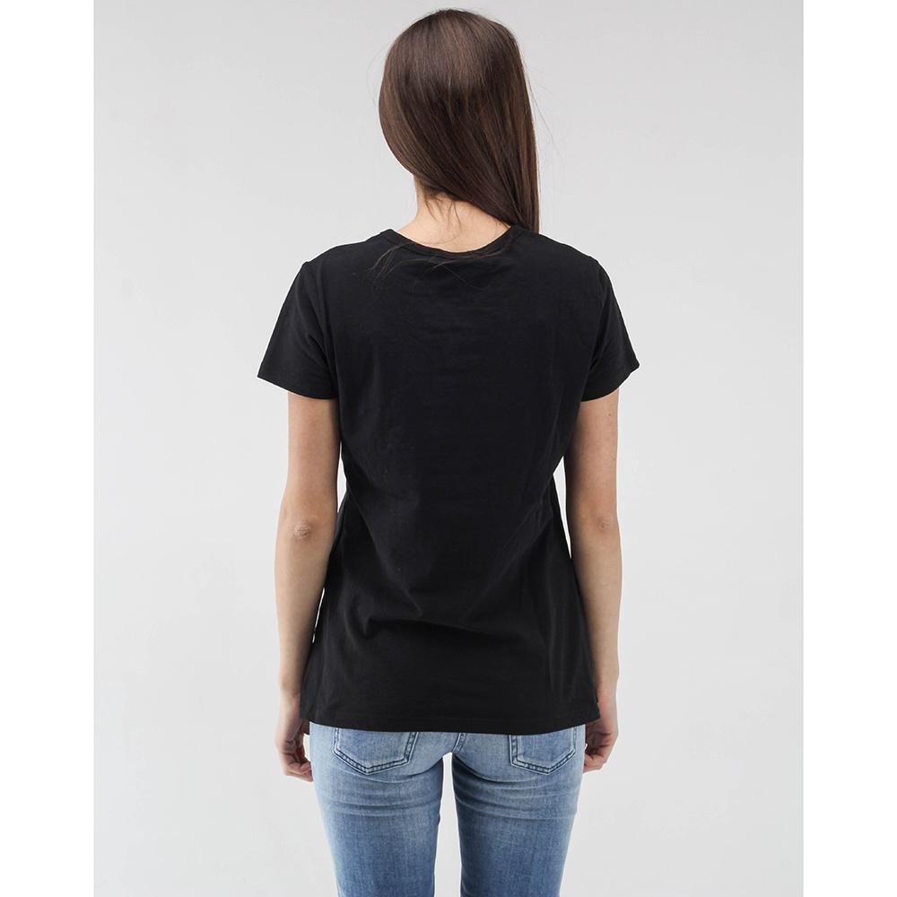 Черная футболка Love Moschino с большим цветным принтом