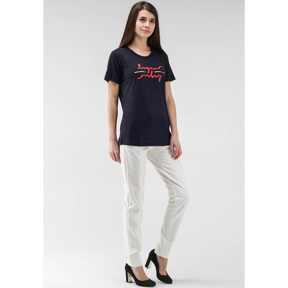 Синяя футболка Bogner с брендовым принтом