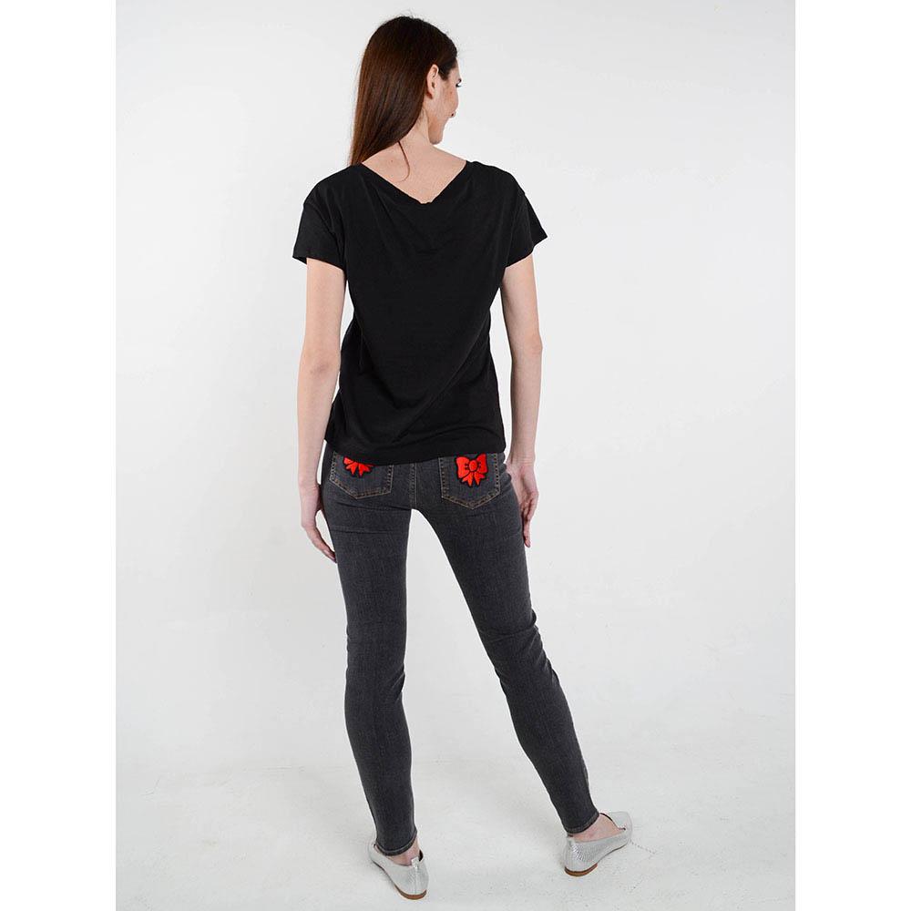 Черная футболка Love Moschino с рисунком в виде замочков