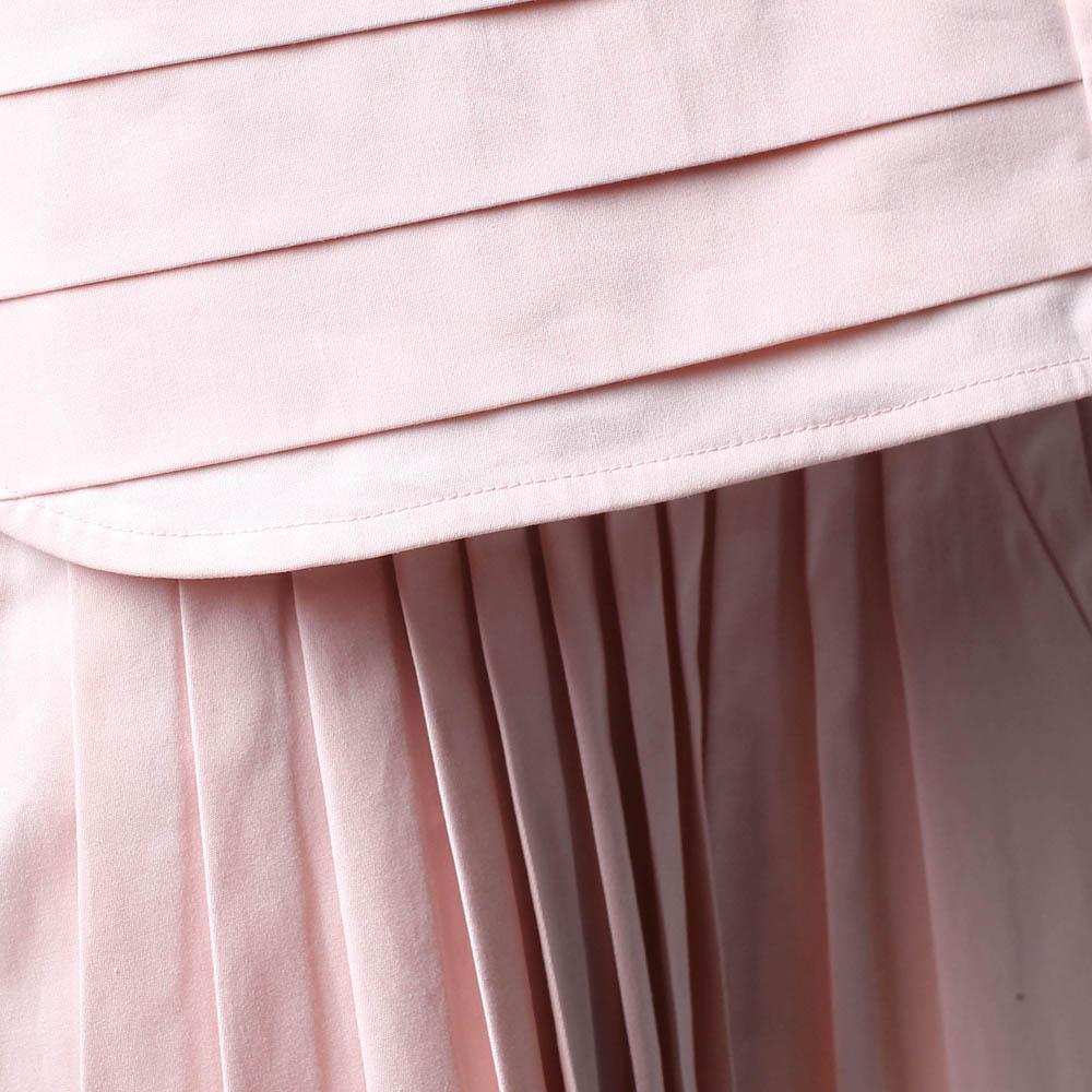 Топ со складками Wnderkammer розового цвета