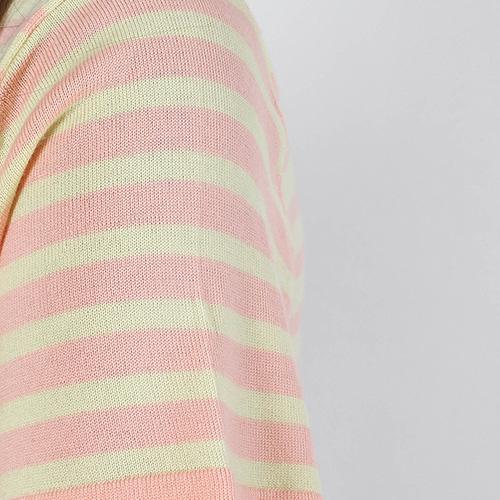 Шерстяной топ Allude желтый в розовую полоску, фото