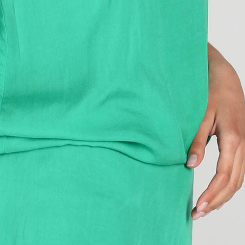 Топ на тонких бретелях P.A.R.O.S.H. зеленого цвета, фото