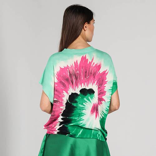 Мятная футболка P.A.R.O.S.H. с абстрактным принтом, фото