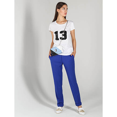 Белая футболка P.A.R.O.S.H. с вышивкой пайетками, фото