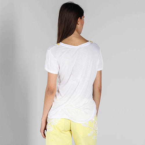 Белая футболка P.A.R.O.S.H. с желтыми пайетками, фото
