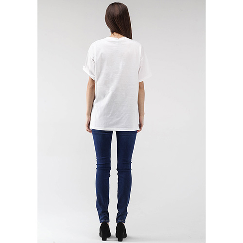 Белая футболка Ermanno Scervino с вышивкой лентами и стразами, фото