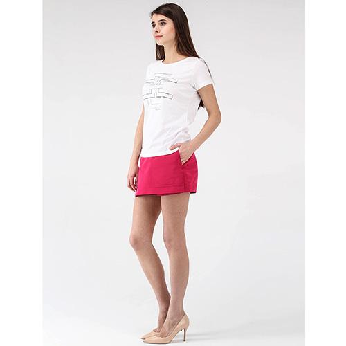 Белая футболка Elisabetta Franchi с графическим принтом, фото