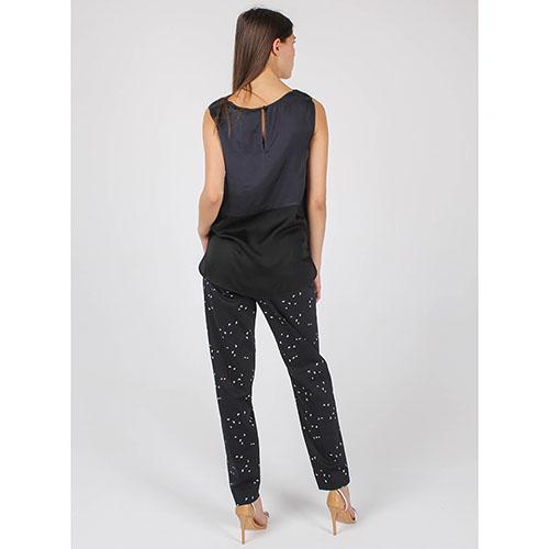 Топ Armani Jeans синего цвета с черной вставкой, фото