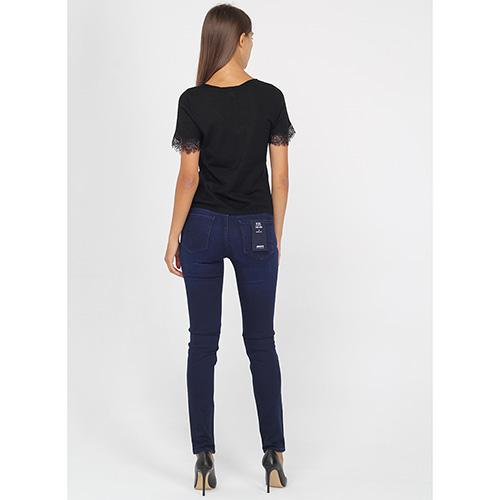 Футболка Armani Jeans с v-образным вырезом и кружевом, фото