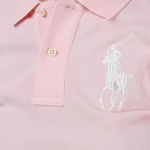 Поло Polo Ralph Lauren розового цвета с вышитым логотипом, фото