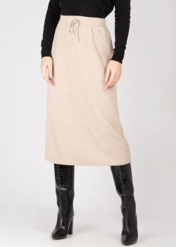 Кашемировая юбка GD Cashmere бежевого цвета, фото