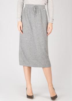 Серая кашемировая юбка-трапеция GD Cashmere, фото