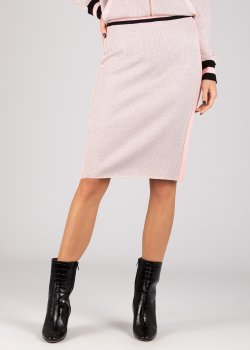 Трикотажная юбка Liu Jo розового цвета, фото