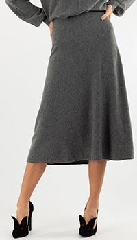 Кашемировая юбка Repeat Cashmere темно-серая, фото
