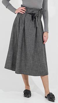 Серая юбка-миди Sandro Ferrone с завышенной талией, фото