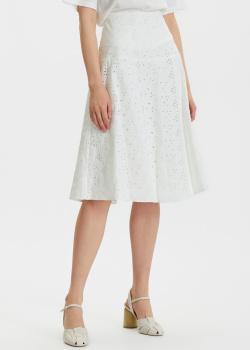 Белая юбка Penny Black с вышивкой-ришелье, фото