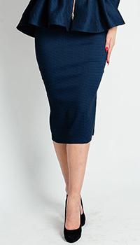 Юбка-карандаш Sonia Fortuna синего цвета, фото