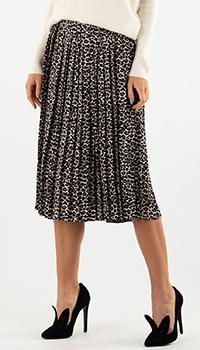 Плиссированная юбка Weill с животным принтом, фото