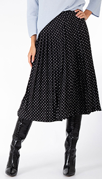 Плиссированная юбка Weill в горох, фото