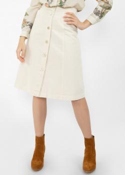 Белая юбка Etro из хлопка на пуговицах, фото