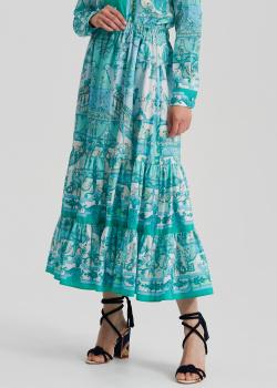 Юбка-миди Etro голубого цвета с принтом, фото