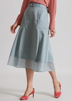 Голубая юбка-миди Riani со складками, фото