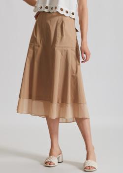 Бежевая юбка из хлопка Riani с карманами, фото