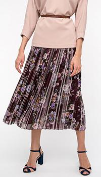 Плиссированная юбка Shako с цветочным принтом, фото