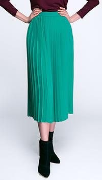 Плиссированная юбка Shako зеленого цвета, фото