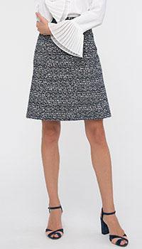 Твидовая юбка-трапеция Shako с высокой талией, фото