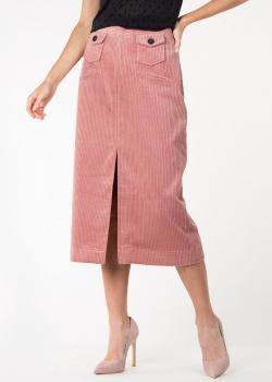 Вельветовая юбка-миди Alexa Chung с разрезом, фото