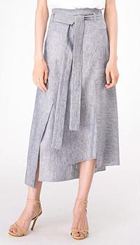Ассиметричная юбка-миди Shako с высокой талией, фото