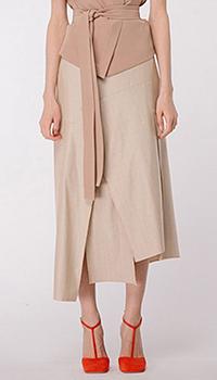 Асимметричная юбка Shako в полоску, фото