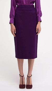 Юбка-карандаш Shako фиолетовая из шерсти, фото