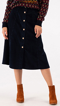 Синяя юбка Etro на пуговицах, фото