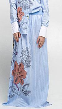 Длинная полосатая юбка Emma&Gaia с цветочным принтом, фото