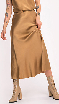 Юбка-миди Shako золотистого цвета, фото