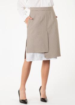 Асимметричная юбка Nina Ricci в мелкую клетку, фото