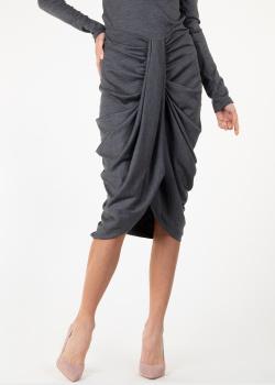 Шерстяная юбка Isabel Marant серого цвета, фото