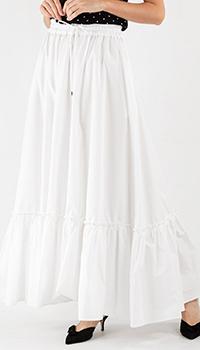 Длинная юбка Pinko белого цвета, фото