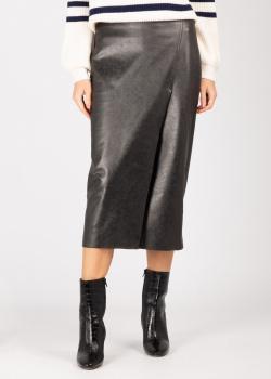Черная юбка Pinko из искусственной кожи, фото