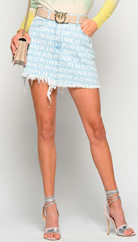 Мини-юбка Pinko с принтом логотипа, фото
