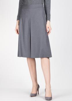 Серая юбка-миди Agnona с защипами, фото