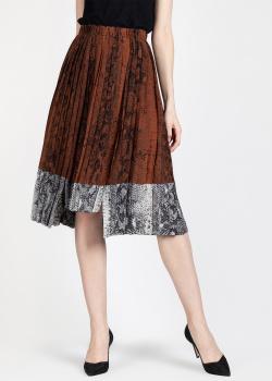 Шелковая юбка N21 с принтом под змею, фото
