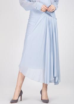Шелковая юбка Rochas с вставкой плиссе, фото