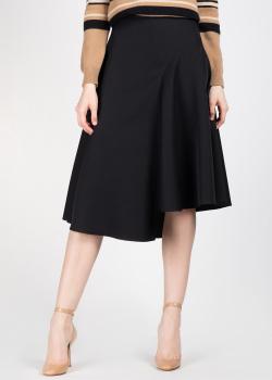 Расклешенная юбка Rochas черного цвета, фото