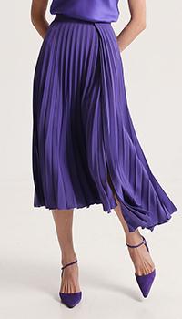 Асимметричная плиссированная юбка Shako с запахом, фото