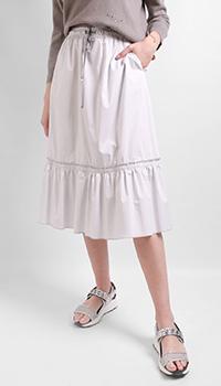 Белая юбка Airfield с оборками, фото