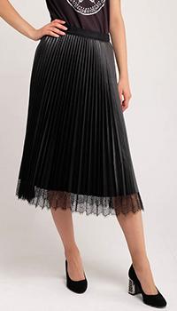 Плиссированная юбка-миди Twin-Set с кружевной отделкой, фото